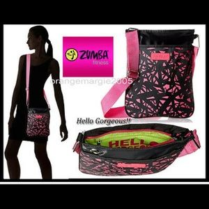 NWT- ZUMBA Hello Gorgeous crossbody pink and black
